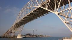 Corpus Christi, Texas Harbor Bridge and Port Stock Footage