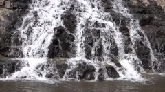Waterfall in The River 4K Stock Footage