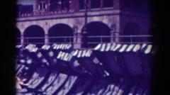 1938: walking alongside the bridge in a city. ATLANTIC CITY NEW JERSEY Stock Footage