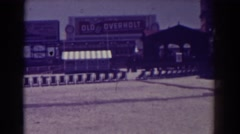 1938: view of the town ATLANTIC CITY NEW JERSEY Stock Footage
