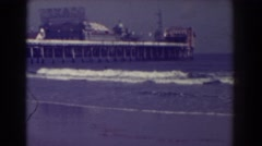 1938: watching the tides come in. ATLANTIC CITY NEW JERSEY Stock Footage