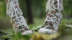 "OZ ""There's no place like home"",moving foots Stock Footage"