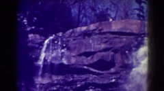 1938: breathtaking waterfall along a sheer cliff face. BLACKWATER FALLS WEST Stock Footage