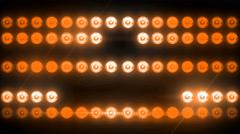 Flashing Light Patterns ORANGE Stock Footage