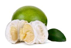 Pomelo isolated on the white background Stock Photos