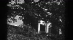 1938: the mysterious house on the hill, vintage clip Stock Footage