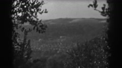 1938: surrounded by trees. VINELAND NEW JERSEY Stock Footage