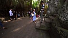 Famous dragon bridge in Sacred Monkey Forest near Ubud. Stock Footage