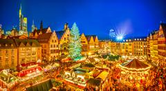 Christmas market in Frankfurt Stock Photos