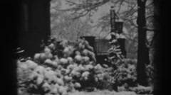 1938: silent house is covered by heavy snow during winter WINCHESTER MARYLAND Stock Footage