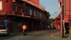 Cutaways Malaysia Malacca World Heritage City Stock Footage