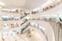 Abstract blur beautiful luxury shopping mall center and shop retail store int Stock Photos