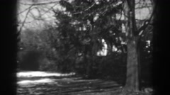 1938: snow kissed trees on acreage. WINCHESTER MARYLAND Stock Footage