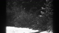 1938: a home right in the middle of the woods. WINCHESTER MARYLAND Stock Footage