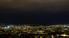 Clermont-Ferrand Night time-lapse Stock Footage