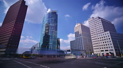 Time lapse of traffic in Potsdamer Platz, Berlin, Germany on a sunny day. Stock Footage
