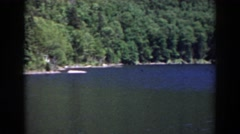 1938: viewing of a beautiful, wide lake. MOUNT WASHINGTON NEW HAMPSHIRE Stock Footage