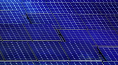 Solar cell panel with clouds reflection Stock Footage