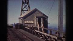 1938: train station depot industrial switching railyard tower MOUNT WASHINGTON Stock Footage
