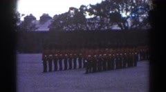1938: royal guard at the palace. QUEBEC Stock Footage
