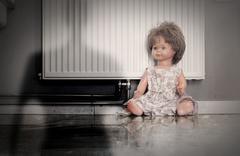 Abandoned doll Stock Photos
