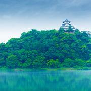 Inuyama Castle High Kiso River Distant Copy Space Stock Photos