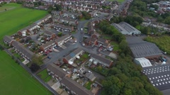 Aerial view of an english suburb. Stock Footage