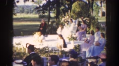 1941: preparation for a beautiful wedding. FLORIDA Stock Footage