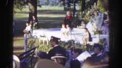 1941: children made team in a marriage function FLORIDA Stock Footage