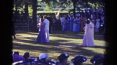 1941: a lovely day for a wedding. FLORIDA Stock Footage