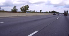 4K POV driving fast on highway 401 in southern Ontario Stock Footage