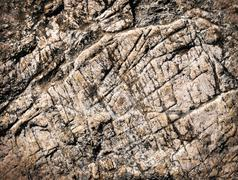 Texture with brownish limestone grooves Stock Photos