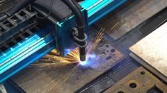 Laser metal sheet machine Stock Footage