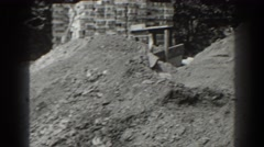 1938: piles of dirt at a construction site CUMBERLAND MARYLAND Stock Footage