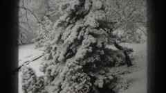 1938: heavy snowfall in the back yard. MARTINSBURG WEST VIRGINIA Stock Footage