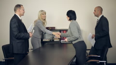 Businesspeople Having Business Meeting in Office Stock Footage