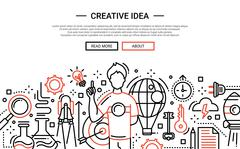 Creative Idea - line design website banner Stock Illustration