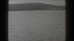 1938: lake with swim platform NEW JERSEY Stock Footage