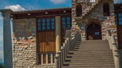 Church designed by Plecnik in Crna Vas Village Stock Footage