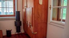 Bathroom at Plečnik House Stock Footage
