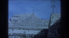 1976: private meeting near secluded church BETHLEHEM ISRAEL Stock Footage