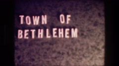 1976: the name of the place is shown as letters pasted on a wall BETHLEHEM Stock Footage