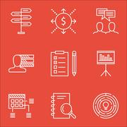 Set Of Project Management Icons On Personal Skills, Opportunity And Reminder  Stock Illustration
