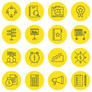 Set Of Project Management Icons On Board, Announcement And Time Management To Stock Illustration