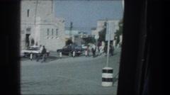 1976: strolling past a police station in spain. BETHLEHEM ISRAEL Arkistovideo