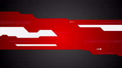 Red black abstract tech minimal motion design Stock Footage