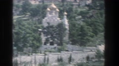 1976: a church with gold spires JERUSALEM ISRAEL Stock Footage