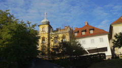 Buildings in the city center of Ljubljana Stock Footage