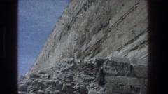 1976: ruins outside the walls of old jerusalem. JERUSALEM ISRAEL Stock Footage