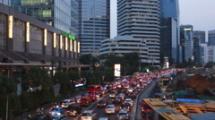 Traffic in Jakarta downtown in Indonesia capital city. Stock Footage